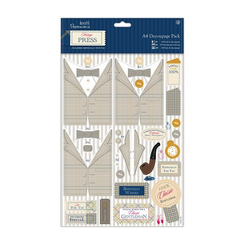 A4 Decoupage Pack - Heritage Press - Country Gent