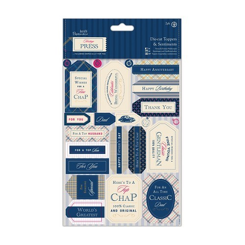 Die-cut Toppers and Sentiments (2pk) - Heritage Press