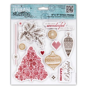 6x6 Urban Stamp - Home for Christmas (Baubles) (13PCS)