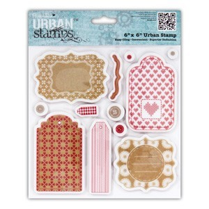 6x6 Urban Stamp - Home for Christmas (Tags) (12PCS)