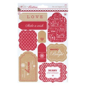 A5 Die-Cut Toppers - Home for Christmas (2PK)