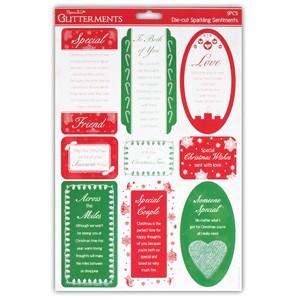 A4 Die-Cut Sparkling Sentiments (Special Christmas)