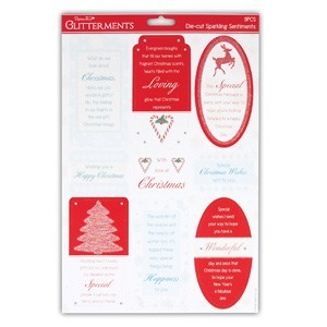A4 Die-Cut Sparkling Sentiments (Loving Christmas)