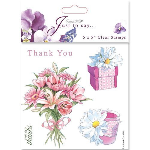 5x5 Clear Stamps - Thanks/Thank You (5pcs)