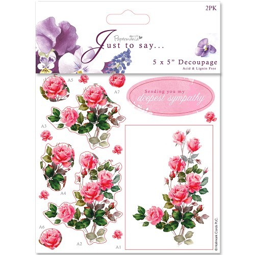 5x5 Decoupage (2pk) - Sympathy/Thinking Of You