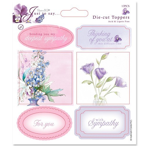 5x5 Toppers/Sentiments (2pk) Sympathy/Thinking Of You