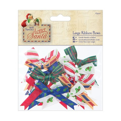 Large Ribbon Bows (12pcs) - Letter to Santa