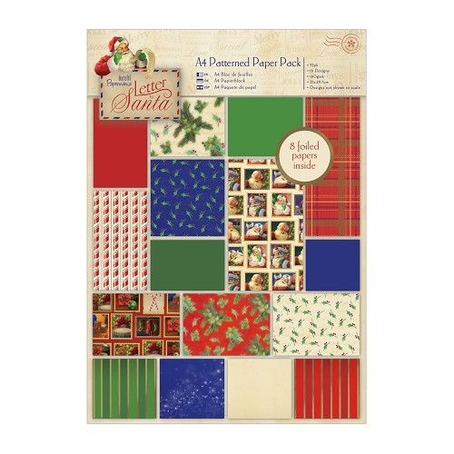 A4 Patterned Paper Pack (32pk) - Letter to Santa