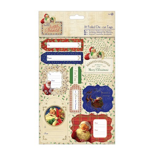 A5 Die-cut Tags & Toppers Foiled (2pk) - Letter to Santa
