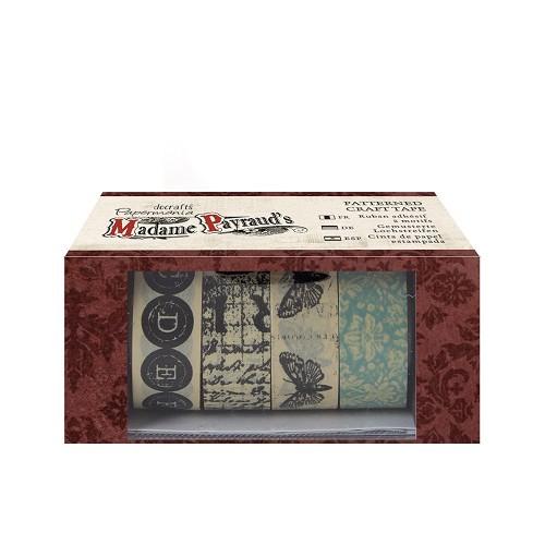Patterned Craft Tape (4pcs) - Madame Payraud