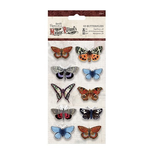 3D Butterflies (10pcs) - Madame Payraud