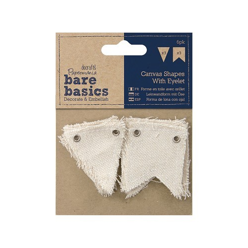 Canvas Shape with eyelet (6pk) - Bare Basics - Small/Large Flag
