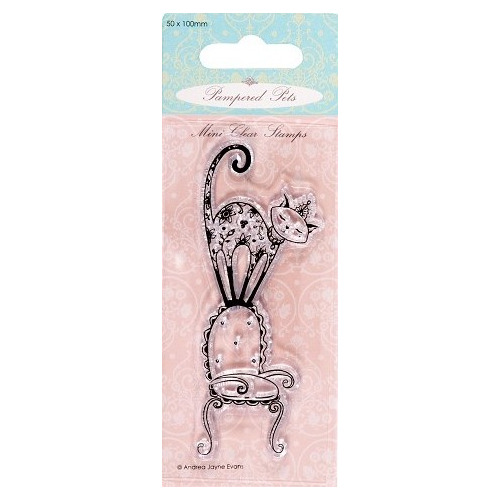 Mini clear stamps - Pampered Pets (purrfect chair)