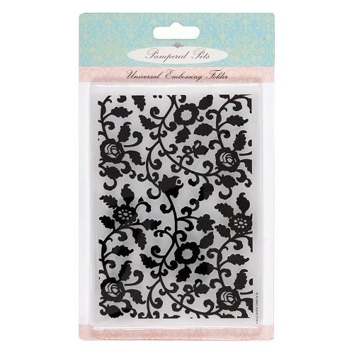 Universal Embossing Folder A6 - Pampered pets (vine)