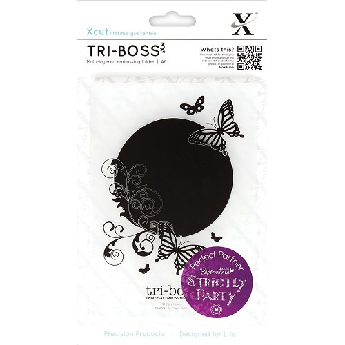 A6 Tri-Boss Emboss Folder - Strictly Party (Butterfly Aperture