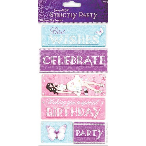 Chipboard Bling Toppers - Strictly Party