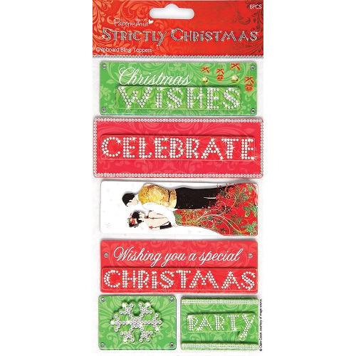 Chipboard Bling Toppers - Strictly Christmas