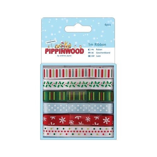 1m Ribbon (6pcs) - Pippinwood Christmas