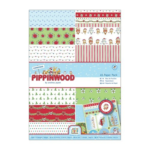 A4 Paper Pack Linen (26pk) - Pippinwood Christmas