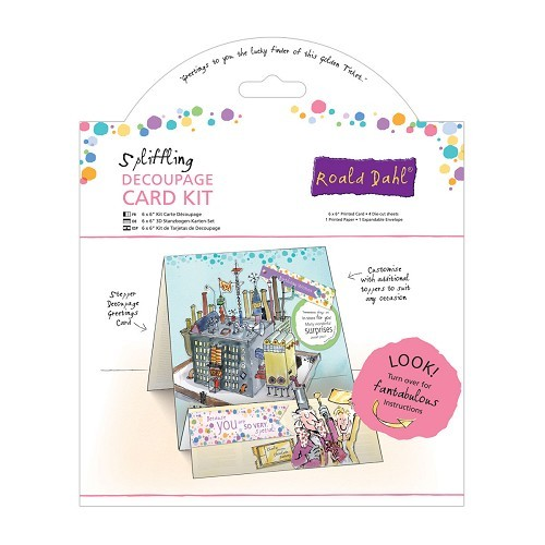 6 x 6`` Decoupage Card Kit - Roald Dahl - Spliffling Factory