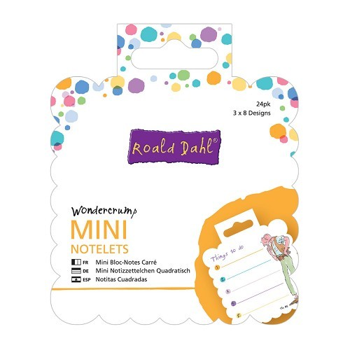 Mini Square Notelets (24pk) - Roald Dahl - Wondercrump