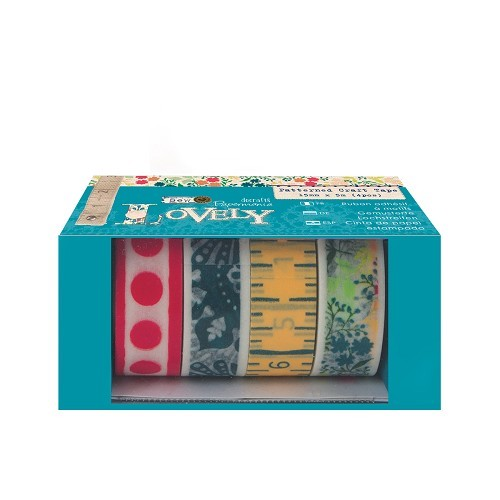 Patterned Craft Tape (4pcs) - Sew Lovely
