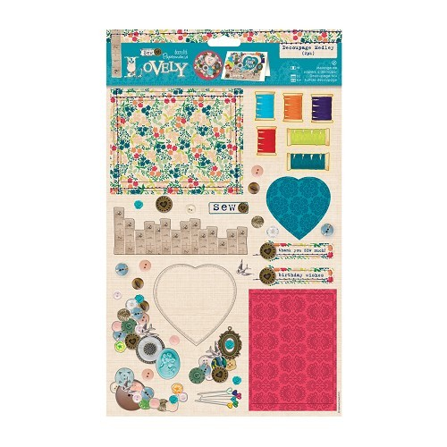 Decoupage Medley (2pk) - Sew Lovely - Cute Button