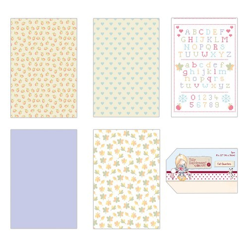 Fat Quarters (5pcs) - Tilly Daydream