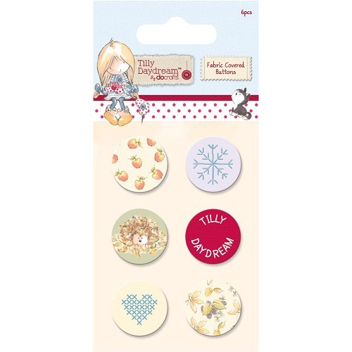 Fabric Covered Buttons (6pcs) - Tilly Daydream