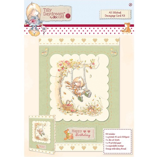 A5 Stitched Decoupage Card Kit - Tilly Daydream