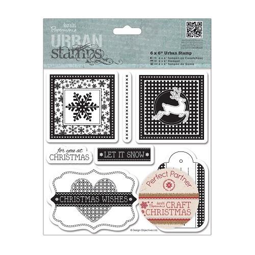 6 x 6 Urban Stamps (7pcs) - Craft Christmas