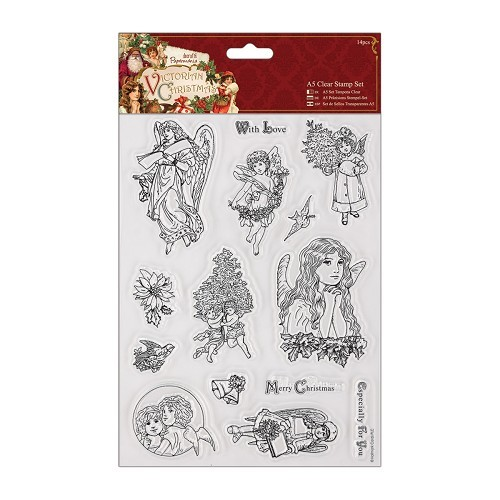 A5 Clear Stamps Set (14pcs) - Victorian Christmas - Cherub