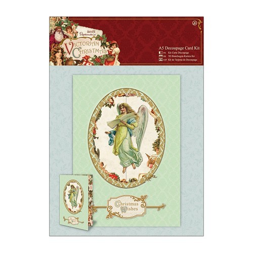 A5 Decoupage Card Kit - Victorian Christmas