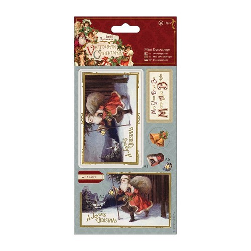 Mini Decoupage - Victorian Christmas - Santa