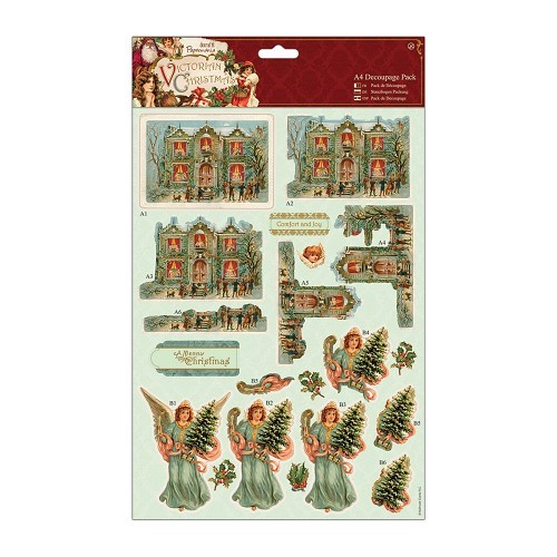 A4 Decoupage Pack - Victorian Christmas - House