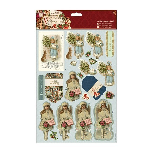 A4 Decoupage Pack - Victorian Christmas - Boy & Girl