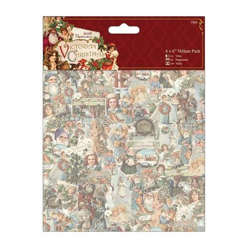 6 x 6 Vellum Pack (10pk) - Victorian Christmas