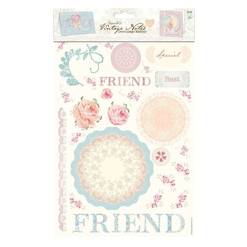 Decoupage Medley (2pk) - Vintage Notes - Love
