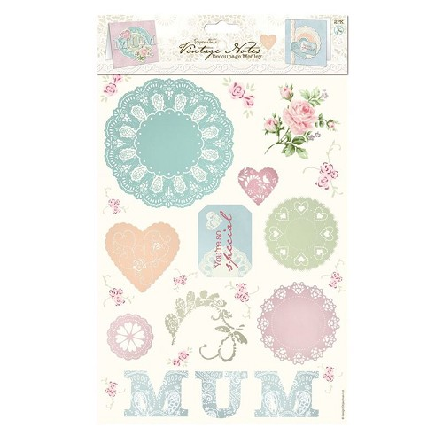 Decoupage Medley (2pk) - Vintage Notes - Mum