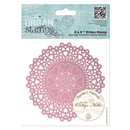 5 x 5 Urban Stamp - Vintage Notes - Doily