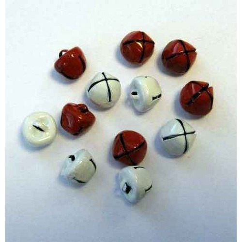 Christmas Bells 10mm Rood en Wit 12239-3932