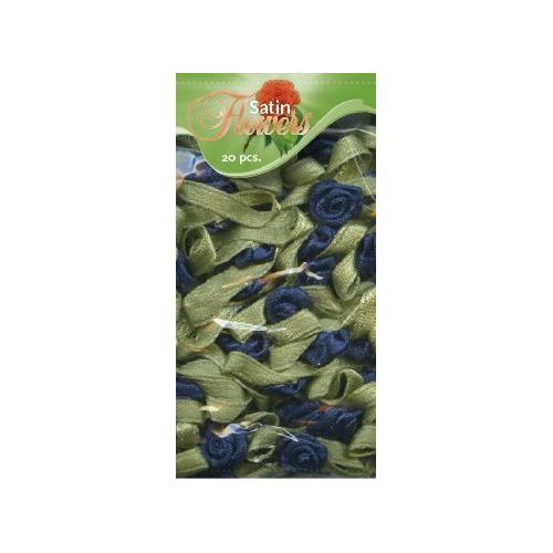 Satin Flowers - Donkerblauw