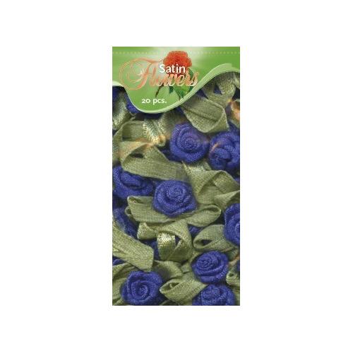 Satin Flowers - Kobaltblauw