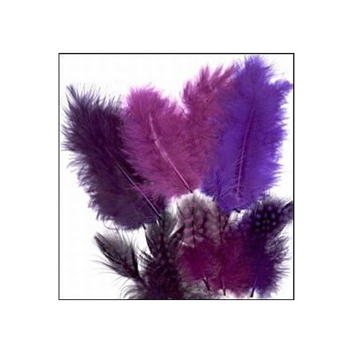 Veertjes 18st. mix paars