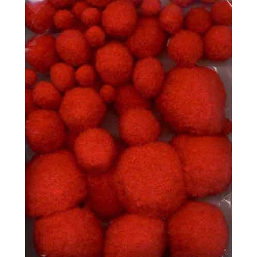Mix Pom Poms Set Rood