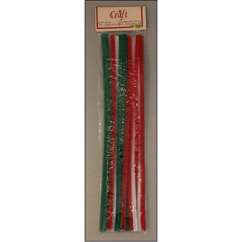 Set chenille draad 30 cm (15) kerst kleuren