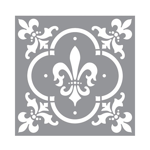 Decor Stencil Fleur de Lis Tile ? ADS04