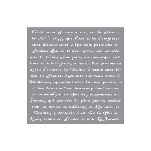 Decor Stencil Old French Script ? ADS10