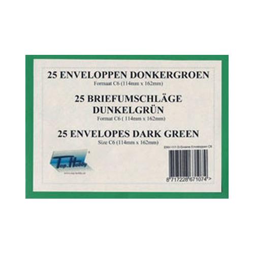 25 Enveloppen - Maat C6 - Donker Groen