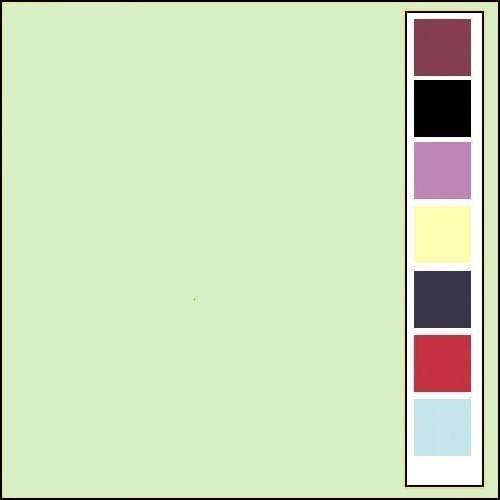 Linnenkarton - Oplegkaartjes - Licht groen